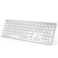 BKA3-03S Rechargeable Multi-Device Bluetooth Keyboard (Silver)